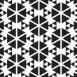 Black and White Triangles Vector Seamless Pattern Background. Li — Stock Vector