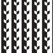 Vettoriale Stock : Black and White Vector Seamless Pattern Background. Lines Appear