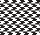 Black and White Zig Zag Vector Seamless Pattern Background. Line — Stock Vector