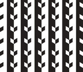 Black and White Vector Seamless Pattern Background. Lines Appear — Vector de stock