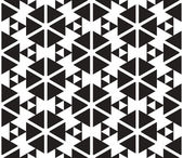 Black and White Triangles Vector Seamless Pattern Background. Li — Stock Photo