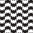 Black and White Vector Seamless Pattern Background. Lines Appear — Imagen vectorial