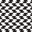 Black and White Zig Zag Vector Seamless Pattern Background. Line — Stock Photo