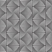 Black and White Optical Illusion, Vector Seamless Pattern Backgr — Stock Vector