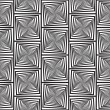 Black and White Optical Illusion, Vector Seamless Pattern Backgr — Stock Photo #35366281