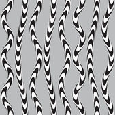 Black and White Twisted Ribbon, Vectro Seamless Pattern. — Stock Vector
