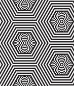 シームレス パターンの黒と白のベクトルの背景、線のみ. — ストックベクタ
