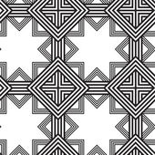 Black and White Vector Seamless Pattern Background, Lines Only. — Stock Vector