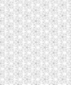 Flowers, Abstract Seamless Pattern Background. — ストックベクタ