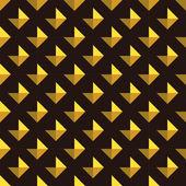 Gold rhombus on black background — Vecteur