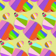 Vector de stock : Striped Easter Eggs Background