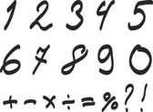 Arabic Numerals Set. — Stock vektor