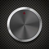 Black Volume Button Knob — Stock Vector