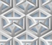 3D Lattice Seamless Pattern — Stock Vector