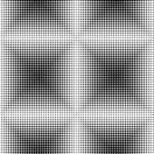 Halftone Black and White Abstract Geometric — Stock Vector