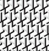 3D Black and White Abstract Stars Geometric — Vecteur