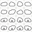 Stock Vector: Cloud Shapes Set, Vector Icons Illustration.