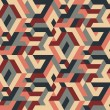 Vettoriale Stock : Abstract Vector Seamless Geometric Pattern, Vintage Colors