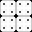 Stockvektor : Repeating Geometric Tiles with Rounded Squares, Vector seamless