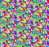Bright Vector Seamless Geometric Pattern with Triangles. — Stock Vector