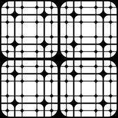 Repeating Geometric Tiles with Rounded Squares, Vector seamless — Stock Vector
