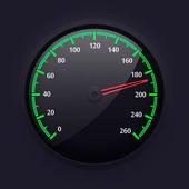 単純なスピード メーター デザイン、ベクトル イラスト. — ストックベクタ