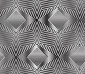 Black and White Op Art Design, Vector Seamless Pattern Backgroun — Wektor stockowy