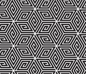 Black and White Op Art Design, Vector Seamless Pattern Backgroun — ストックベクタ