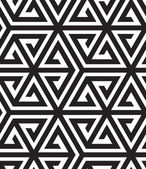Black and White Op Art Design, Vector Seamless Pattern Backgroun — Stockvektor