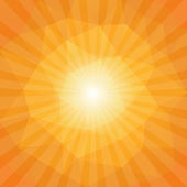 Sunset Sun Sunburst Pattern, Polygonal Design. Vector illustrati — Stockvektor