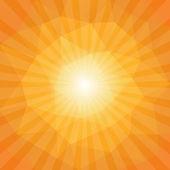 Sunset Sun Sunburst Pattern, Polygonal Design. Vector illustrati — ストックベクタ