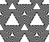 Black and White Op Art Design, Vector Seamless Pattern Backgroun — Stock Vector