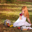 Stock fotografie: Girl with apple