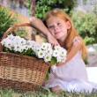 Girl with flowers — Foto de Stock