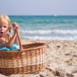 Stock Photo: Girl in basket