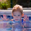 Girl in pool — Stock Photo #13965068
