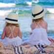 Girls in hats — Stock Photo