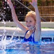 Girl in pool — Stock Photo #13967149
