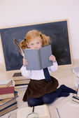 Girl and a book — Foto Stock