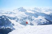 Ski slope in the Alps — Stock Photo