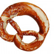 Bavarian pretzel isolated on a white background — Stock Photo
