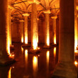 Basilica Cistern underground, Istanbul, Turkey — Stock Photo