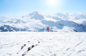 Winter sport ski holiday in the Alps — Stock Photo
