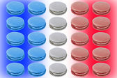 Colorful macaroons depict French flag — Stock Photo