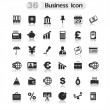 Set Office and Business icons — Vector de stock