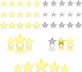 Star ratings — Stock Vector