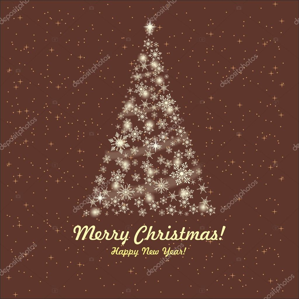 Greeting card with a Christmas tree and wishes — Stock Vector #13380281