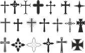 Cross symbols — Stock Vector
