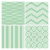 Green seamless patterns — Stock Vector