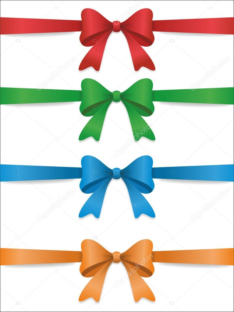 Set of bows for an ornament — Stock Vector #14971577